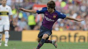 Riqui Puig debutó en partido oficial en el Barça-Cultural de la Copa