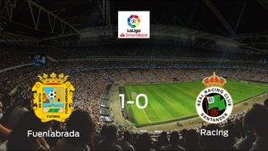 Triunfo del CF Fuenlabrada frente al Racing de Santander (1-0)