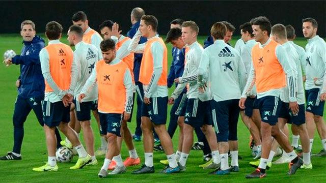 Último entrenamiento de la selección antes de medirse a Malta