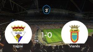 El Yagüe gana 1-0 en casa al Vianés