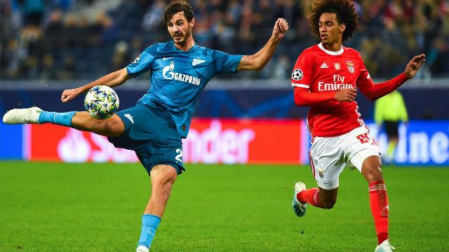 El Zenit doblega al Benfica en casa