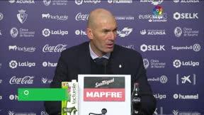Zidane: Había que ganar tras la derrota en Copa