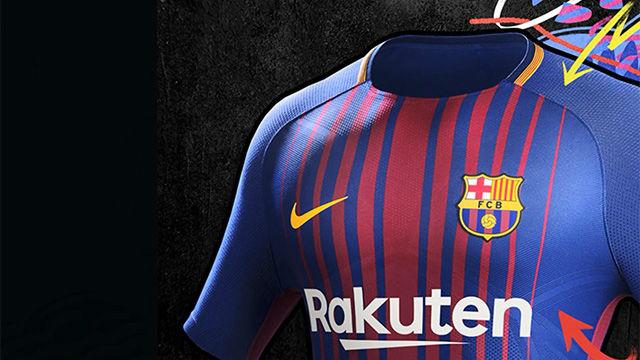 Así es la nueva equipación del FC Barcelona para la temporada 2017-18 71abb653c7d