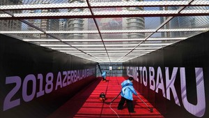 El circuito urbano de Baku, en la edición 2018