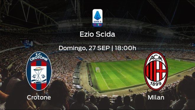 Previa del partido: el Crotone recibe en su feudo al AC Milan