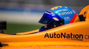Alonso, en el test de Indianápolis