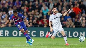 Ansu firmó un gran partido contra el Levante
