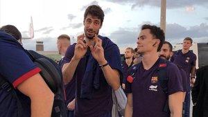Ante Tomic y sus compañeros se tomaron con filosofía el retraso en su vuelo