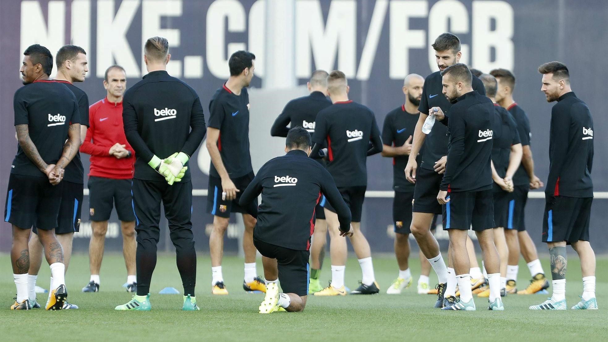 Así ha sido el último entreno del FC Barcelona