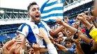 Borja Iglesias recibió el cariño de la afición