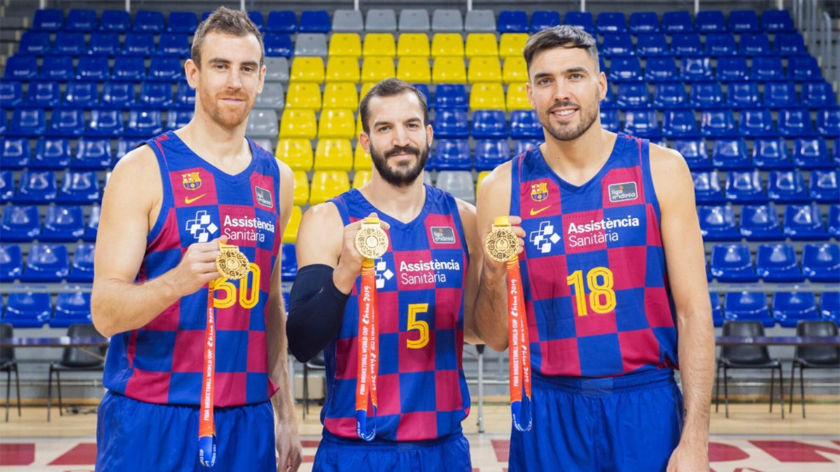 El Barça ya tiene en casa a sus tres campeones mundiales