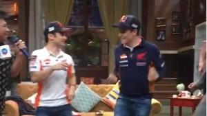 Dani Pedrosa y Marc Márquez mostraron sus dotes como bailarines