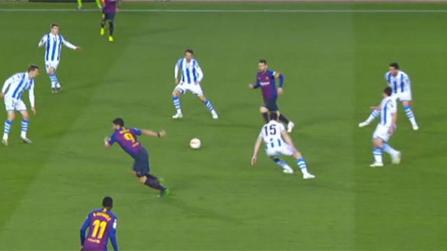 Elustondo también quiere jugar con Messi: el defensa el defensa participó en una de las jugadas más peligrosas del equipo