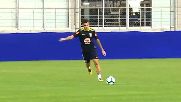 El entreno de Coutinho con Brasil