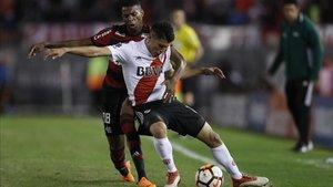 Exequiel Palacios, titular en River Plate y con la albiceleste