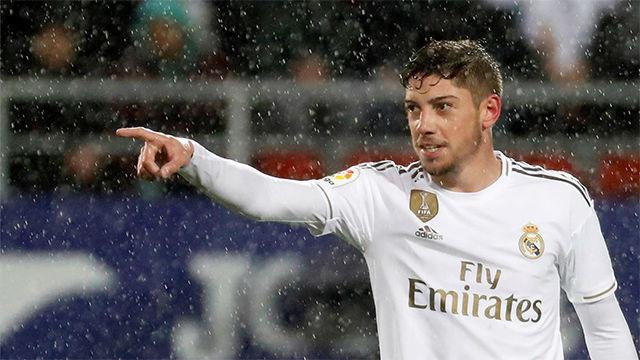 Fede Valverde se sumó a la goleada del Madrid en Ipurua