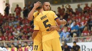 Ferrao felicita a Boyis tras el gol