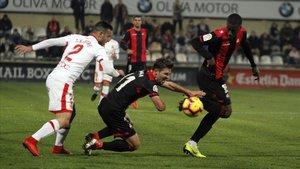 Imagen del último duelo del Reus en el que perdió ante el Mallorca