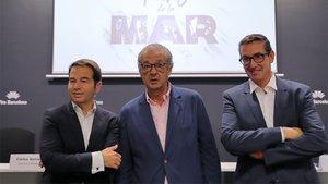 De izquierda a derecha, Carlos Sanlorenzo, Luis Conde y Jordi Freixas