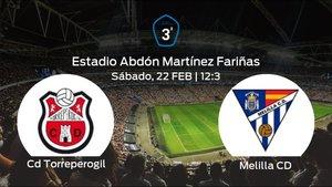 Jornada 26 de la Tercera División: previa del duelo Torreperogil - Melilla CD