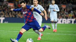 Leo Messi liderará el ataque barcelonista ante el Getafe, una vez más