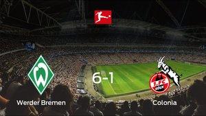 Los tres puntos se quedan en casa: goleada del Werder Bremen al Colonia (6-1)
