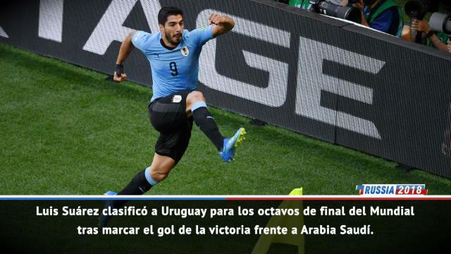 Luis Suárez mete a Uruguay en octavos