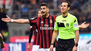 Mateo Musacchio, durante un partido con el Milan