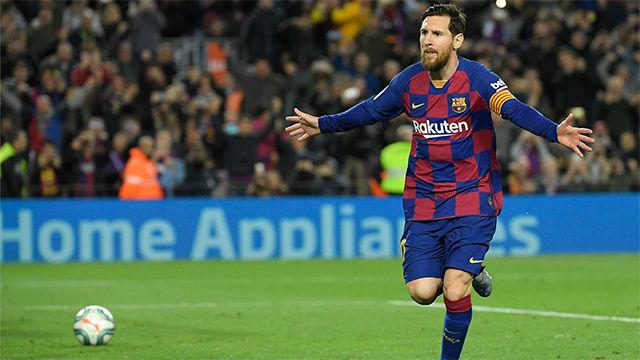 Messi dio la victoria al Barça desde el punto de penalti