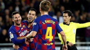Messi marcó otro hat-trick