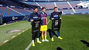 Morales y Clerc junto al deportista FER, Sergio Alamar