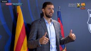 Nikola Mirotic, nuevo jugador del Barça Lassa de basket