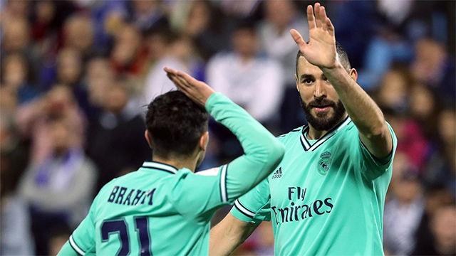 Y, por fin, Benzema volvió a ver puerta: así marcó el cuarto gol al Zaragoza