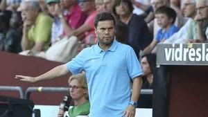 Rubi debutó en el banquillo del Espanyol