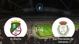 El San Fernando de Henares se lleva los tres puntos a casa tras golear a El Álamo (1-4)