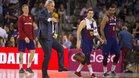 Svetislav Pesic trata de emular a Leo Messi en el intermedio