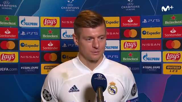 Toni Kroos: El primer gol no es una buena jugada de ellos, es un poco que les ayudamos nosotros