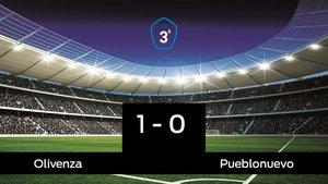 Tres puntos para el equipo local: Olivenza 1-0 Pueblonuevo
