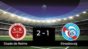 Victoria 2-1 del Stade de Reims frente al Strasbourg