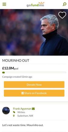 El mensaje para recaudar fondos y despedir a Mourinho