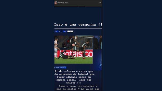 Resultado de imagen para neymar instagram arbitros