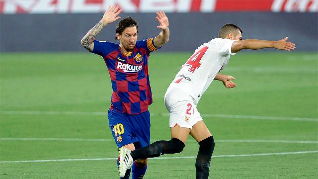 El 1x1 del Barça ante el Sevilla en la primera mitad