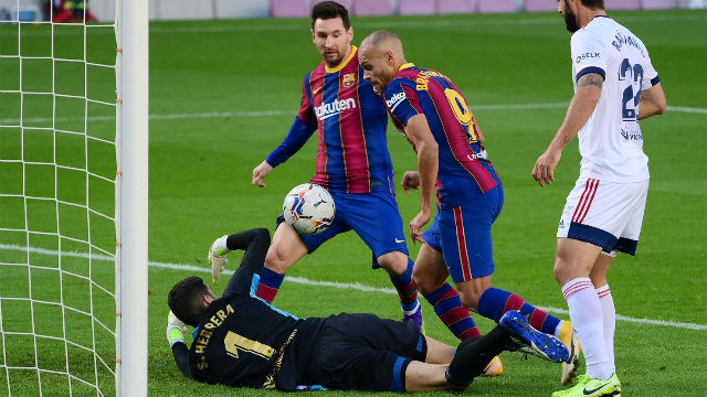El 1x1 del FC Barcelona al descanso