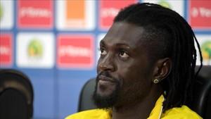 Adebayor con la selección de Togo