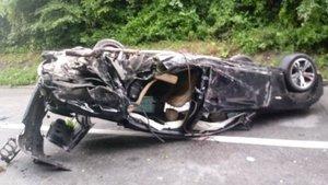 Así quedó el `Porsche SUV¿ de Ognjen Kuzmic tras el accidente