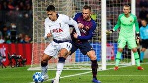 El balón fue más del Tottenham