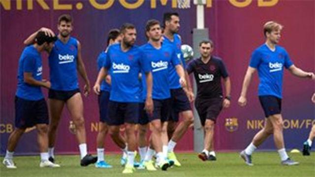 El Barça vuelve a los entrenamientos tras la derrota ante el Levante