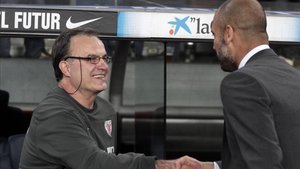 Bielsa y Guardiola mantienen una gran relación