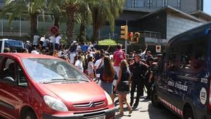 La caótica llegada del Real Madrid al hotel en Barcelona