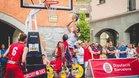El Circuito 3x3 integra el baloncesto en los lugares emblemáticos de las poblaciones que visita, Torelló 2018